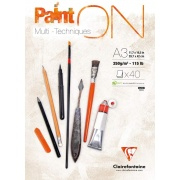 "Clairefontaine blok ""Paint On"", A3, 40 ark. 250g /2"
