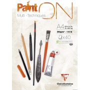 "Clairefontaine blok ""Paint On"", A4, 40 ark. 250g /4"