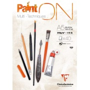"Clairefontaine blok ""Paint On"", A5, 40 ark. 250g /4"