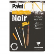 "Clairefontaine blok klejony ""Paint On Black"", A5 20ark. 250g /4"