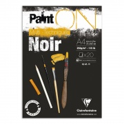 "Clairefontaine blok klejony ""Paint On Black"", A4 20ark. 250g /4"