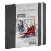 HAHNEMUHLE Toned Watercolour Book 200g grey 14x14